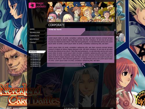 web design jeux video