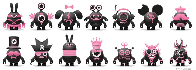 designer de mascotte création de personnages