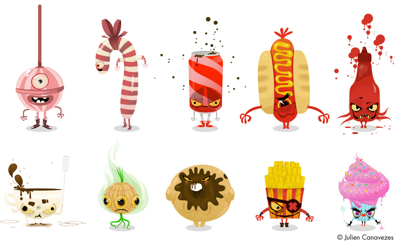illustration junk food
