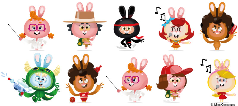 vector character for kid