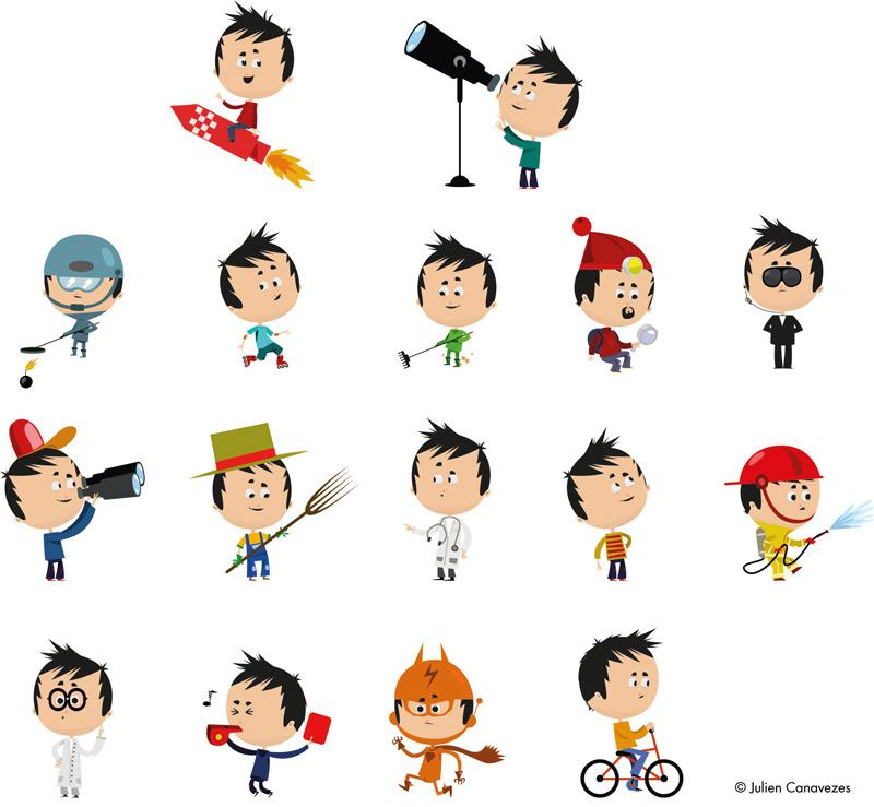 illustration personnage enfant