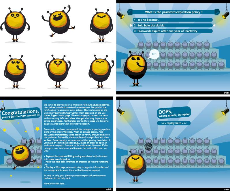 déclinaison mascotte jeu interactif