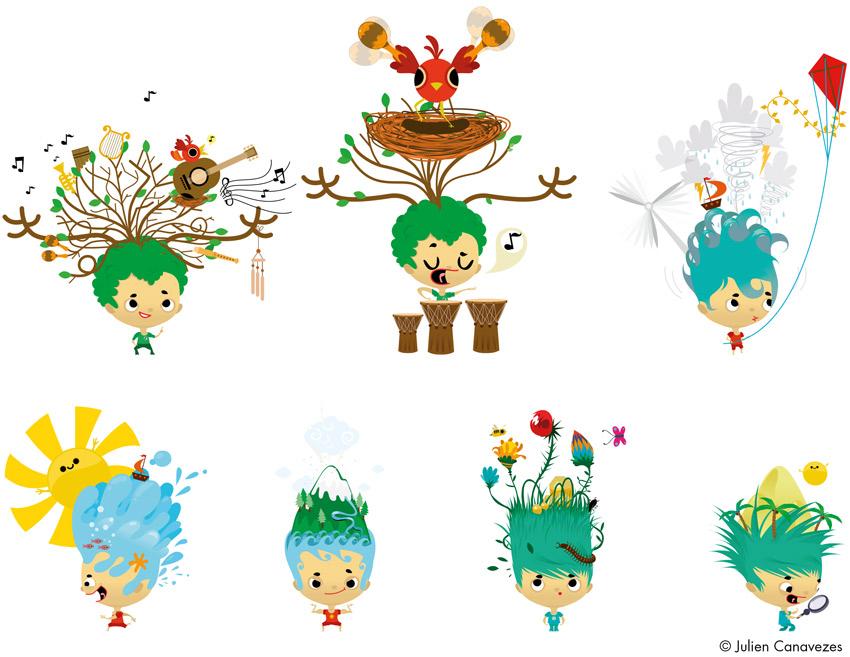 mascot club med illustrator