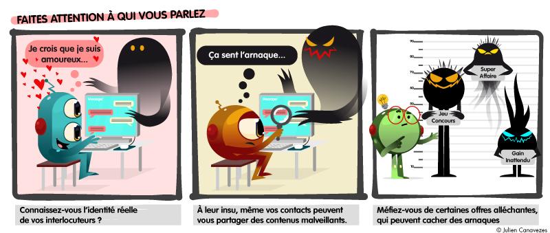 illustration sur les arnaques sur internet