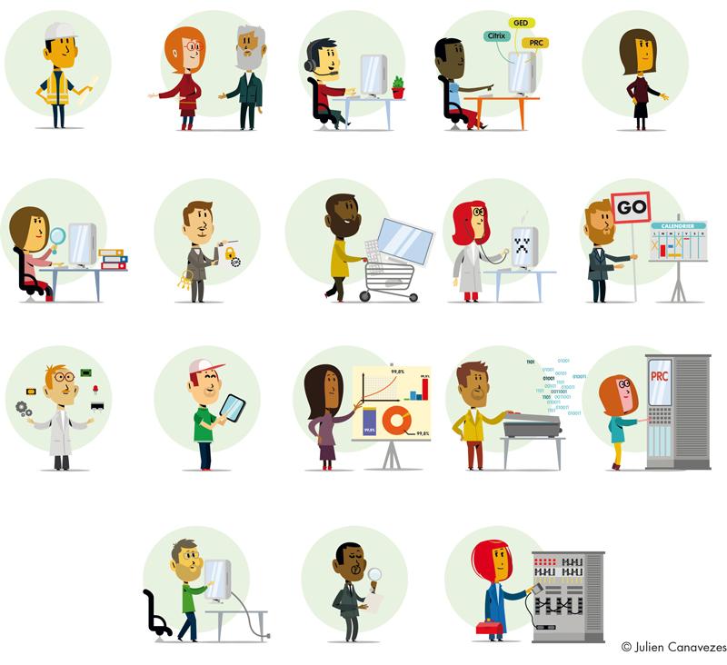 illustration communication d'entreprise