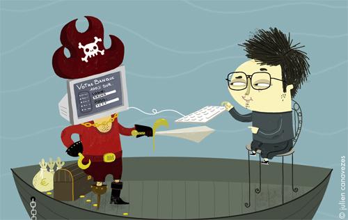illustration sur le thème du piratahe informatique