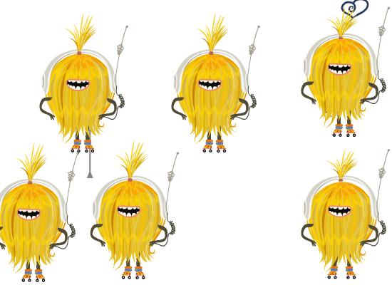 personnage animé