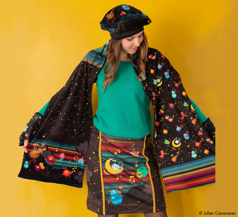 fashion textile illustration for children and youth