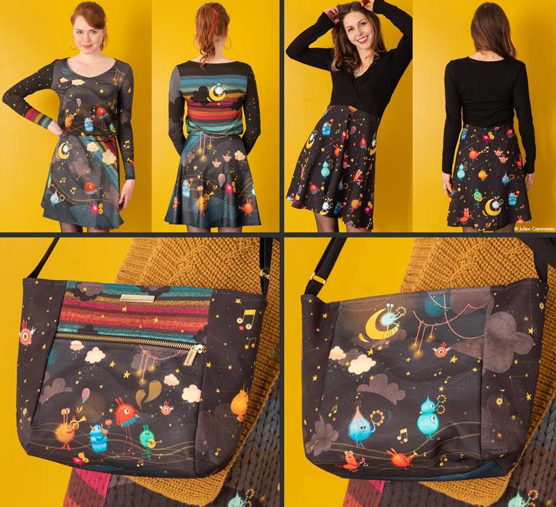 illustrator fashion and accessories bag skirt t-shirt