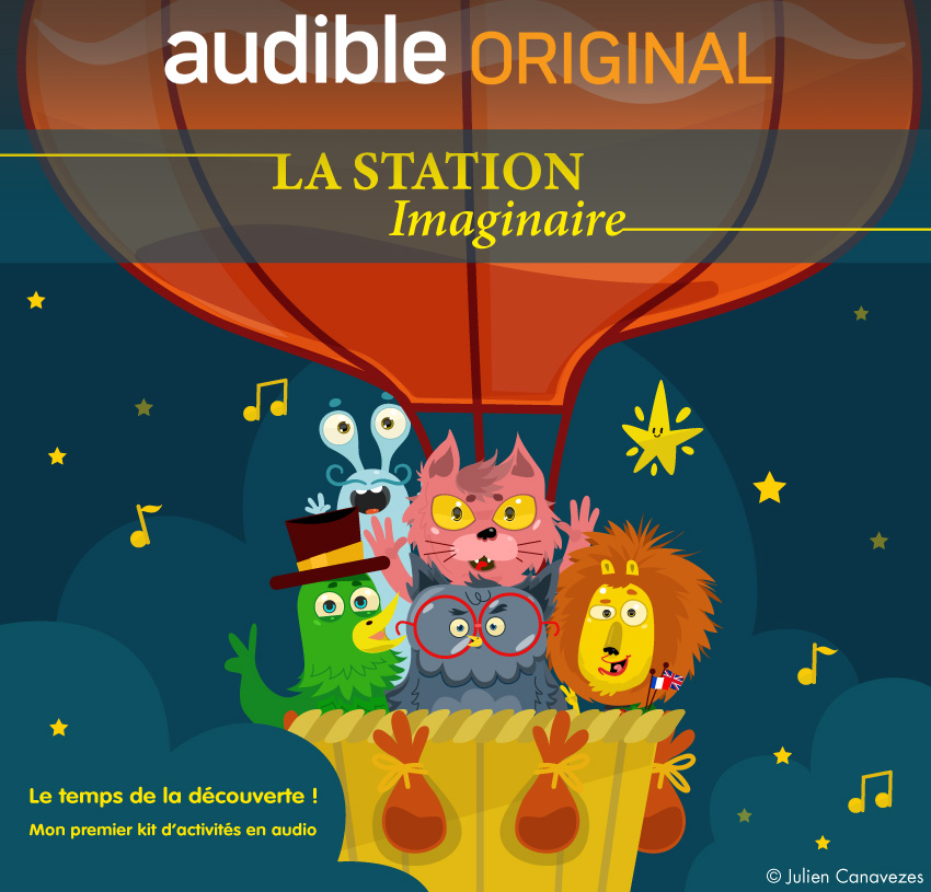 audible podcast audiobook illustrator