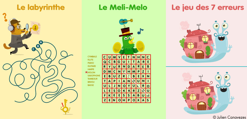 illustration de jeux pour enfants