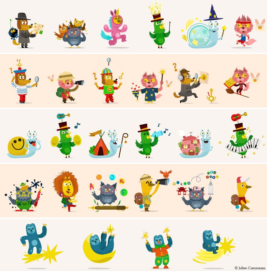 illustration d'animaux rigolo