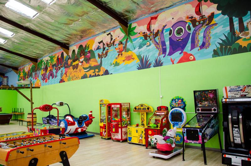 illustration fresque murale, décoration pour enfants