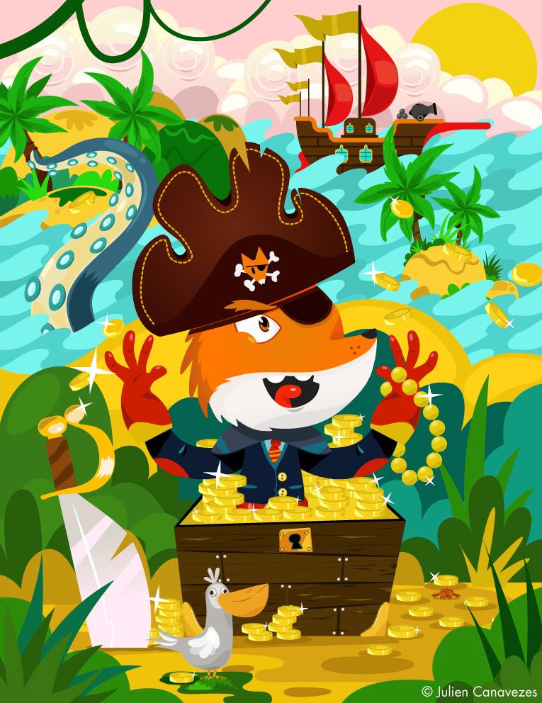 illustration for kid pirat