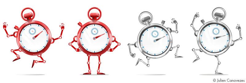 mascotte sncf chronomètre montre