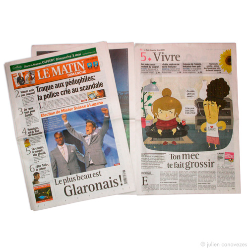 Illustrateur pour magazine et presse ecrite