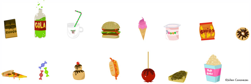 Junk food illustrations