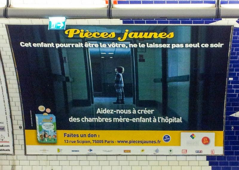 illustration affiche métro parisien