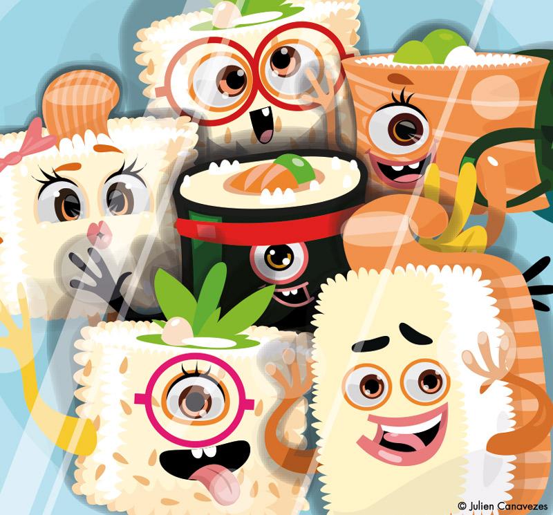 illustration sushi