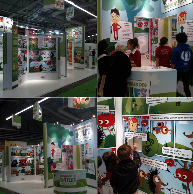 educational and interactive stand for children