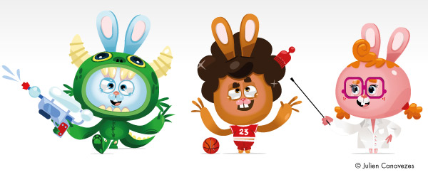 mascottes personnages vectoriel illustrator