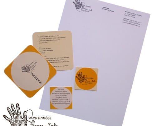 Graphisme print France-Inde