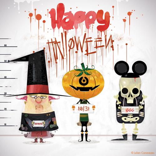 carte postale halloween