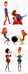 illustrateur de personnages humains