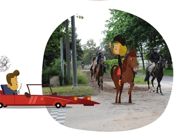 Illustration sur le sécurité routière