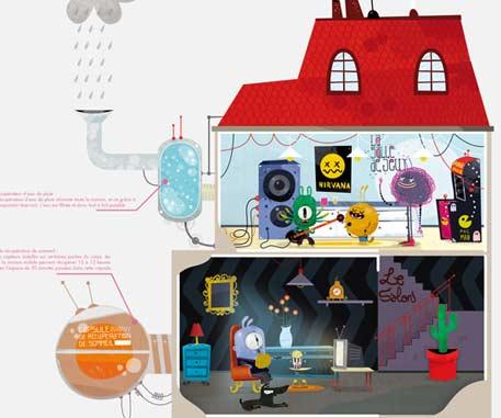 The mobile ecological eco-citizen house