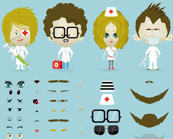 Avatars customisation de personnages