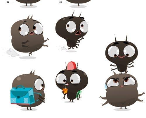 illustrateur poux et insectes