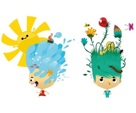 Illustrations de jeux pédagogiques pour les enfants
