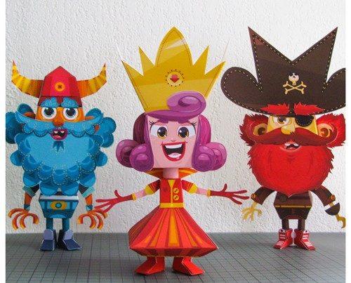 création paper toyz pour enfants
