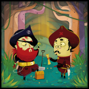 illustrateur de pirates pour l'édition jeunesse