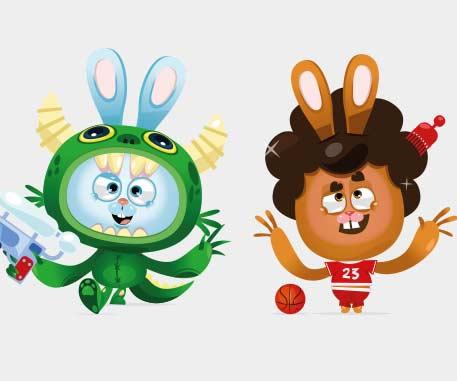 Personnage jeunesse et mascotte 2D / 3D