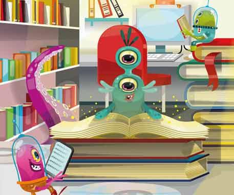 Illustration pour les bibliothèques de Rouen