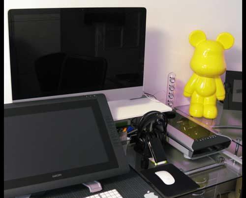 office and graphic designer illustrator equipment