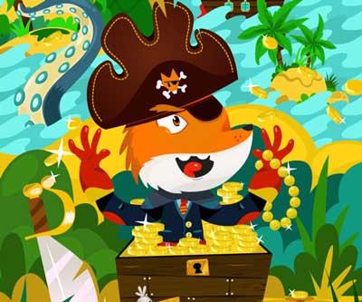 illustration et décoration d'un parc pour enfants K'ptain Park