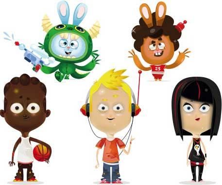 Mascotte vectorielle pour la jeunesse