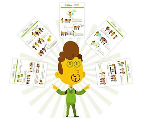 Illustrations de fiches pédagogiques pour de la formation professionnelle.